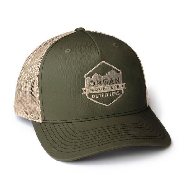 Organ Mountain Outfitters - Outdoor Apparel - Hat - Snapback Trucker Cap - Olive Khaki.jpg
