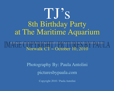 TJ's 8th Birthday Party ~ The Maritime Museum, Norwalk, CT ~ October 10, 2010