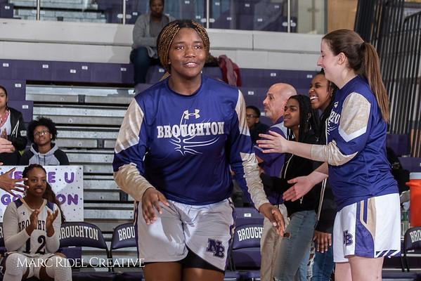 Broughton girls varsity basketball vs Millbrook. February 15, 2019. 750_7249