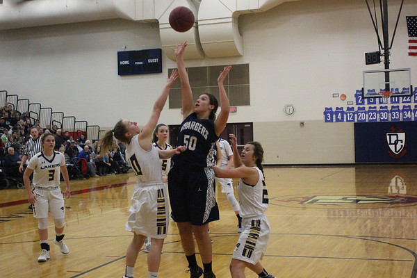 Girls Basketball vs. HLWW, 1-14-17