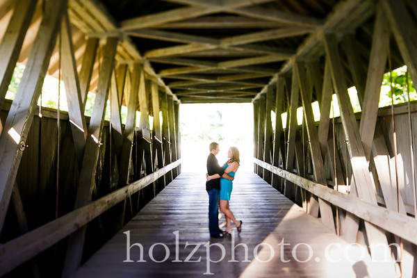 Lauren and Dustin Color Engagement Photos