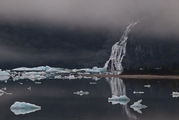 Amalga Harbor and Mendenhall Glacier in November