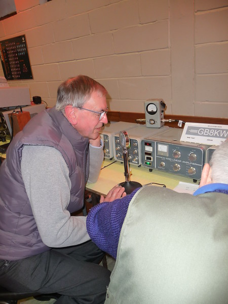 Richard Shears operating with his late fathers call G8KW
