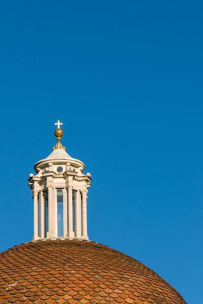 Close-up of Dome of Sagrestia Nuova, Basilica of San Lorenzo, Florence (Firenze), Tuscany (Toscana), Italy