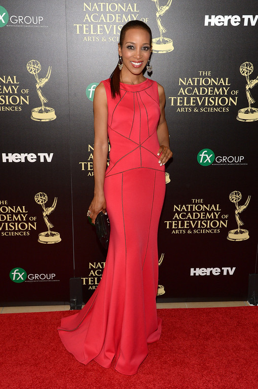 . TV personality Shaun Robinson attends The 41st Annual Daytime Emmy Awards at The Beverly Hilton Hotel on June 22, 2014 in Beverly Hills, California.  (Photo by Jason Kempin/Getty Images)