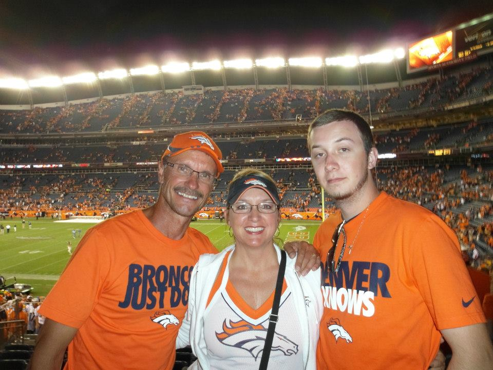 . Dean, Tina, and son Josh-Montana Die-hard Bronco Fans forever. Season ticketholders since 1997. Dean Schock
