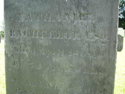 Nathaniel Bachellor ( Bacheller , Batchelder ) Grave