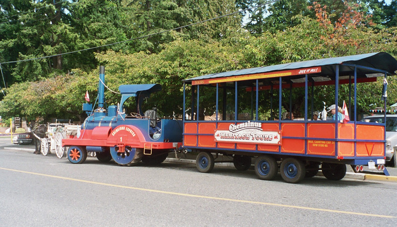 """This is the little """"train"""" that we rode on for the tour."""