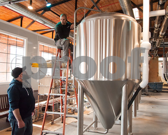 02/09/18 Wesley Bunnell   Staff Work continues on Friday afternoon at Five Churches Brewing at 193 Arch St in New Britain in anticipation of its grand opening that is yet to be determined.