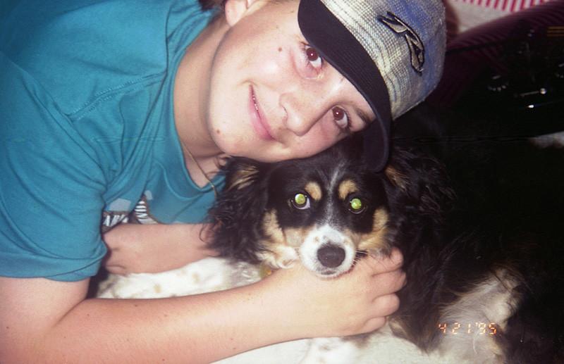 Dan and Chelsea in 1995