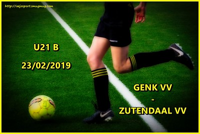 Genk VV - Zutendaal VV  U21B  23/02/2019