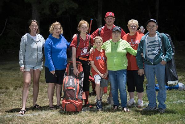 Adriana softball and the Family  photo