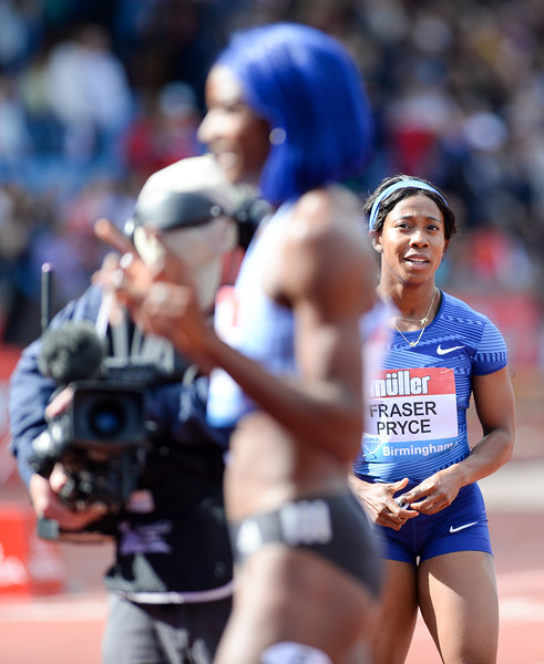 Shelly-Ann Fraser-Pryce returns to the track with third place at the Muller Athletics Grand Prix Birmingham