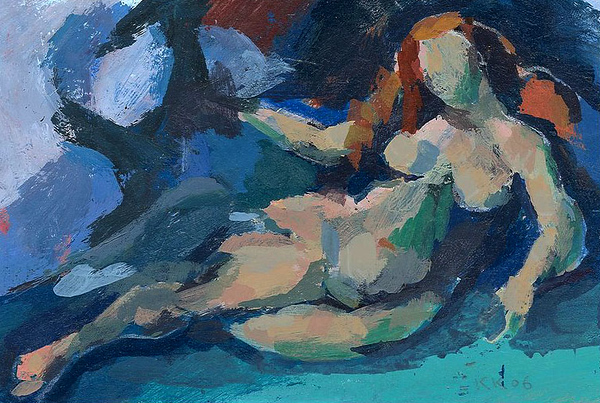 Reclining Female Nude (after Cezanne)