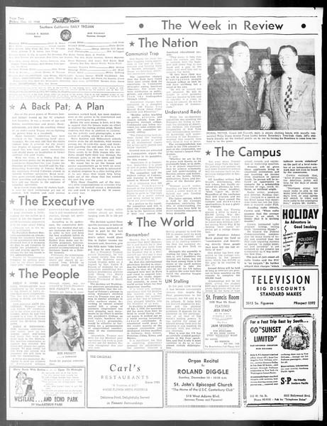 Daily Trojan, Vol. 40, No. 62, December 10, 1948