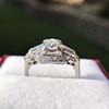 1.18ctw Art Deco Princess Halo Ring 23