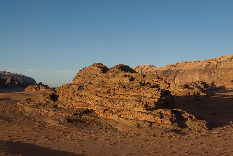Rock formation in Wadi Rum, Jordan