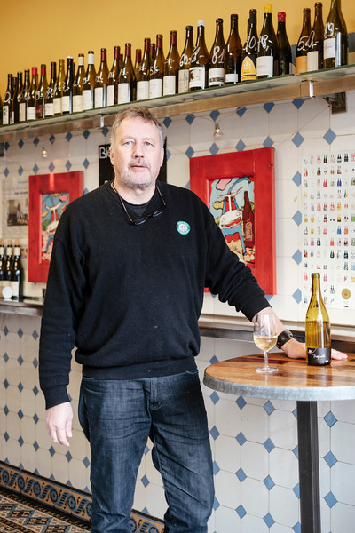 Portrait of Renald, Café Marius, wine bar, Geneva