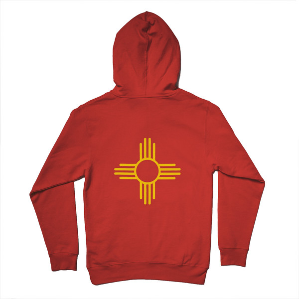 Organ Mountain Outfitters - Outdoor Apparel - Outerwear - Zia Sun Symbol Pullover Hoodie - Red Back.jpg