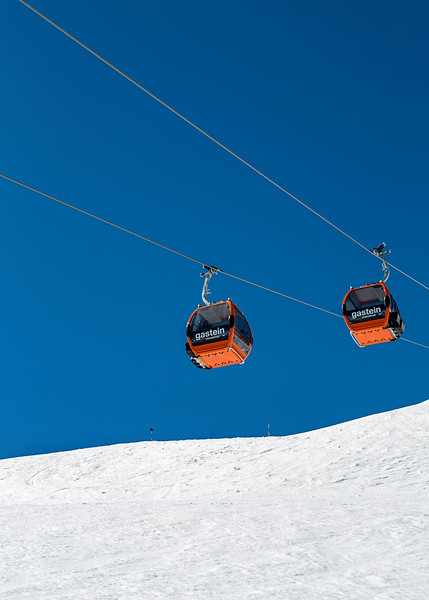 Cable Cars Over Bad Gastein, Austria