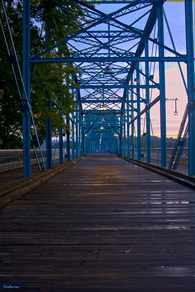 Walnut Street Bridge at sunrise Chattanooga, TN, 07/14/2019 This work is licensed under a Creative Commons Attribution- NonCommercial 4.0 International License