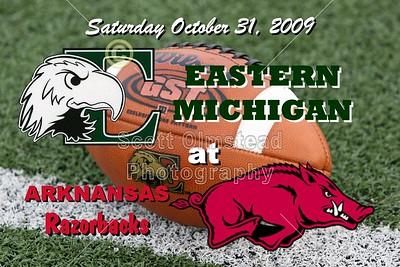 2009 Eastern Michigan at Arkansas