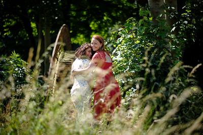 Hanne en Ielke in Groot Park