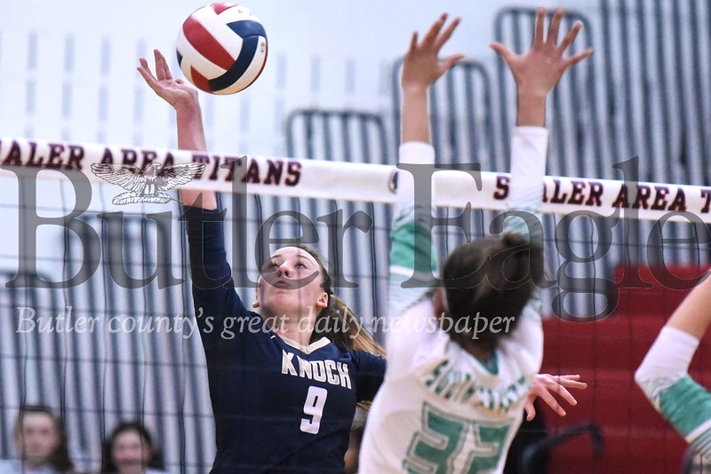 Knoch's Skylar Burkett against South Fayette in state playoffs Nov. 5 Seb Foltz/Butler Eagle