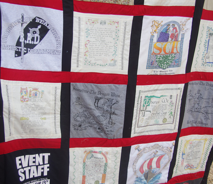 Scanned scrolls made into quilt