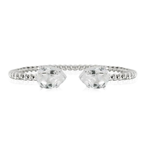 Mini Drop Bracelet / Crystal Rhodium