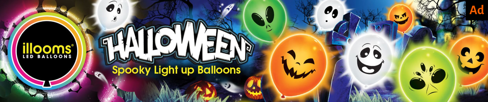 Illoom Balloon Halloween Glow in the Dark Balloons
