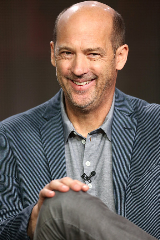 ". Actor Anthony Edwards of ""Zero Hour\"" speaks onstage during the ABC portion of the 2013 Winter TCA Tour at Langham Hotel on January 10, 2013 in Pasadena, California.  (Photo by Frederick M. Brown/Getty Images)"