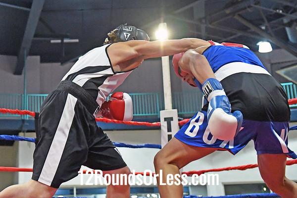 Bout 5 Jorge Martinez, Blue Gloves, Columbus -vs- D.J. Mills, Red Gloves, Ashtabula, 155 Lbs