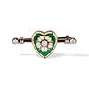 .45ctw Victorian Heart Diamond and Enamel Pin 0