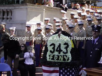 FDNY MEMORIAL SERVICE ON  9/11/03