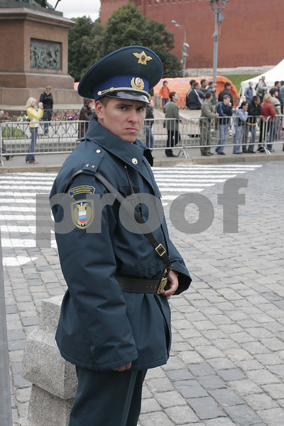 Policeman at Red Square in Moscow, Russia