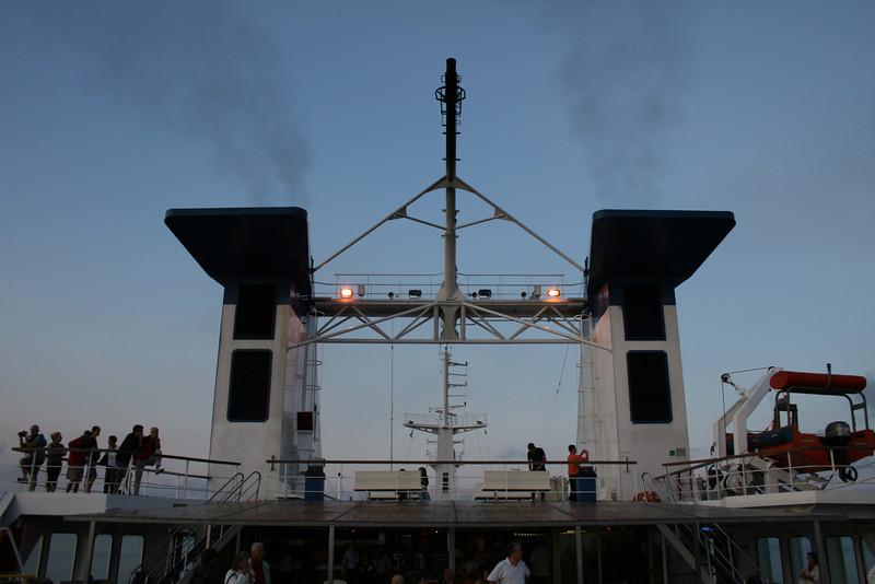 2009 - On board LAURANA : funnels, deck 9.