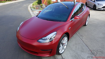 Tesla Model 3 - Multi-Coat Red - XPEL Stealth