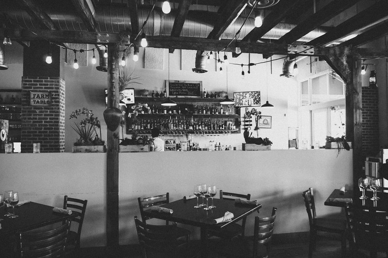 The Brick American Kitchen & Bar, Downtown Dadeland - b&W