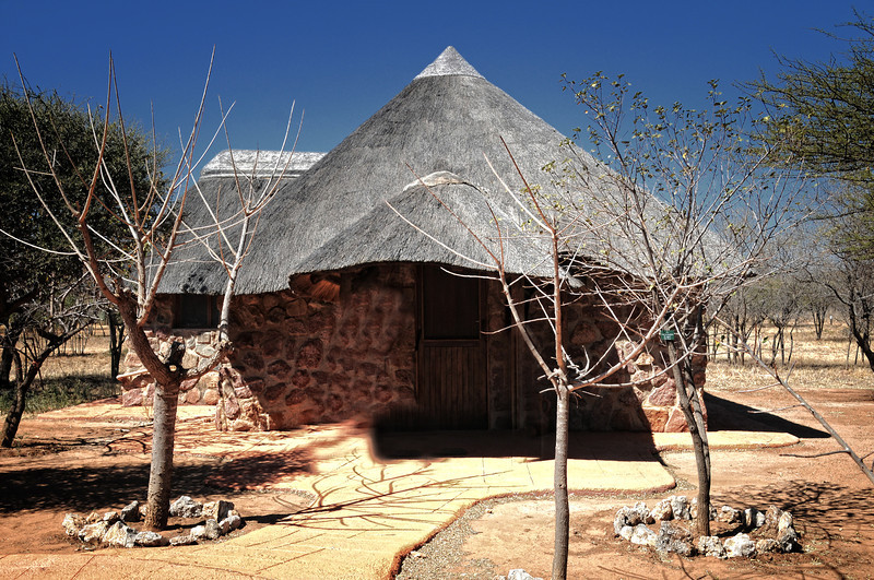 The African hut I slept at.