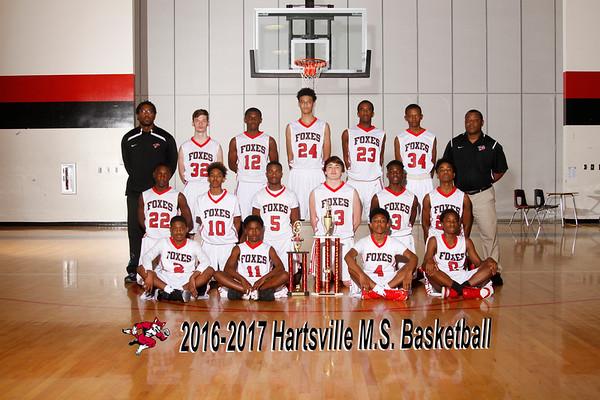 2016-2017 Boys basketball MS