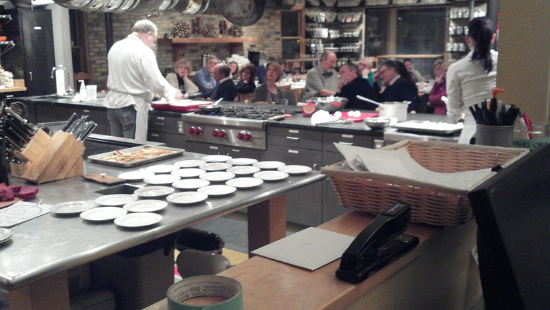 Cooking class at Cook's of Crocus Hill.