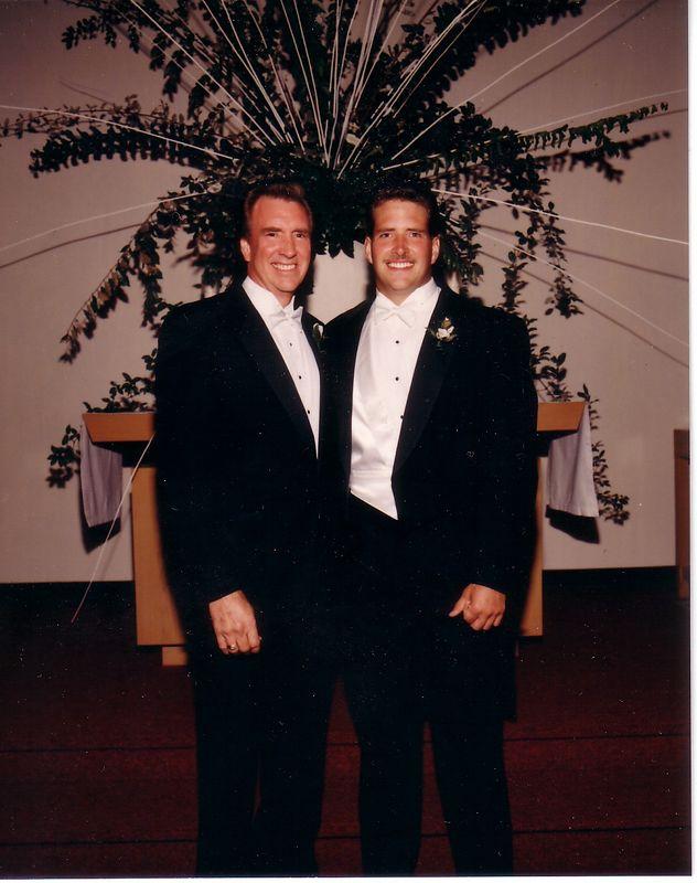 DOUG EDGE SR AND DOUG EDGE JR ON DOUG JRS WEDDING DAY