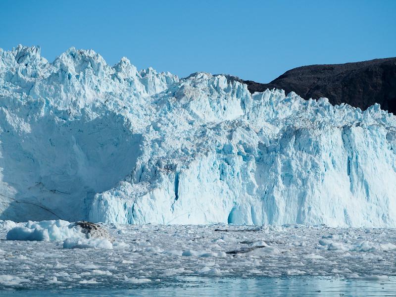 The face of Eqi Glacier