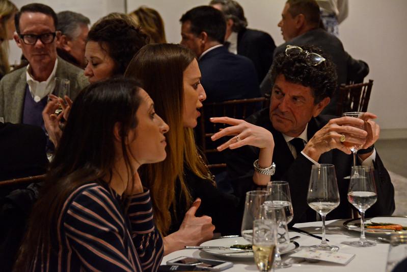 Lauren Wachsman, Rebeka Bardou, Michael Gross AVENUE MAGAZINE Presents the SALON DINNER & CONVERSATION about PUBLIC ART Featuring YVONNE FORCE VILLAREAL 10 Hudson Yards NYC, USA - 2017.04.06 Credit: Lukas Greyson