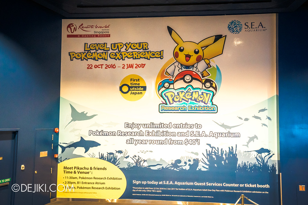 Pokémon Research Exhibition Launch -  SEAA Aquarium Annual Pass CTA