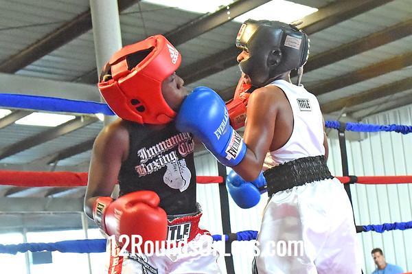 Bout 3 Nick Washington, Wolfpac BA -vs- Mickel Clements, Immanuel BC, 85 lbs, PeeWee