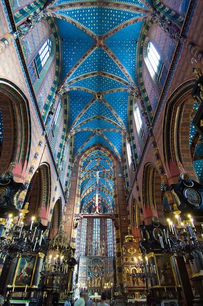 Poland, Cracow, Mariacki Church