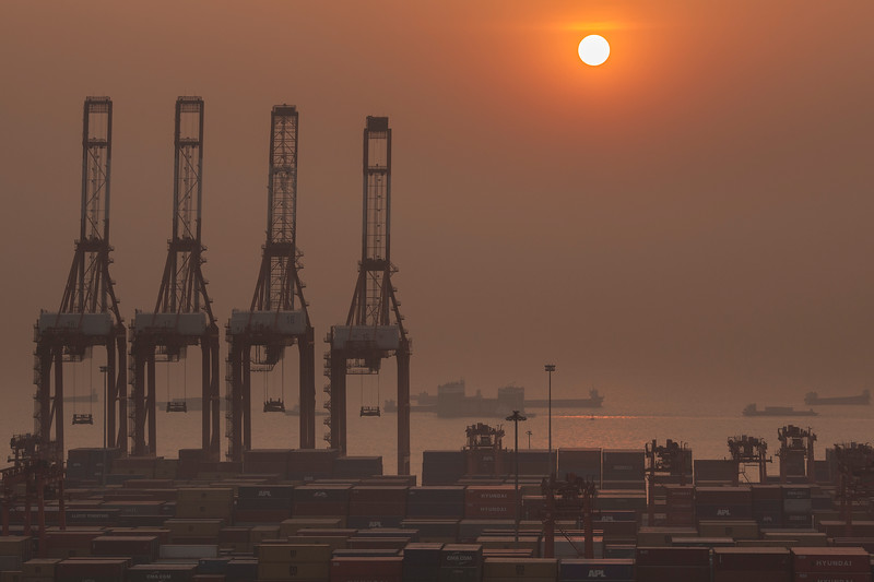 Vessels navigate the Port of Shekou in Shenzhen, Guangdong Province, China on Saturday, Jan. 8, 2011. Photographer: Forbes Conrad/Bloomberg News