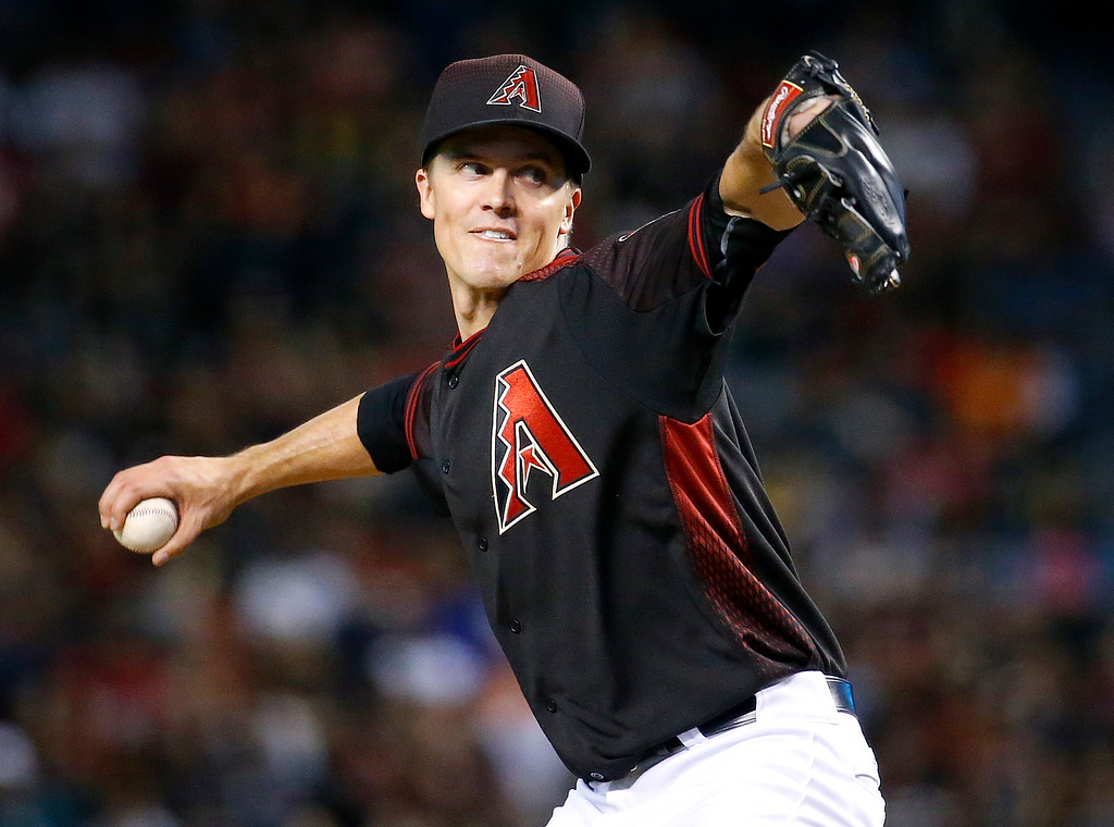 . Arizona Diamondbacks starting pitcher Zack Greinke throws against the Colorado Rockies during the fourth inning of a baseball game, Saturday, April 30, 2016, in Phoenix. (AP Photo/Matt York)